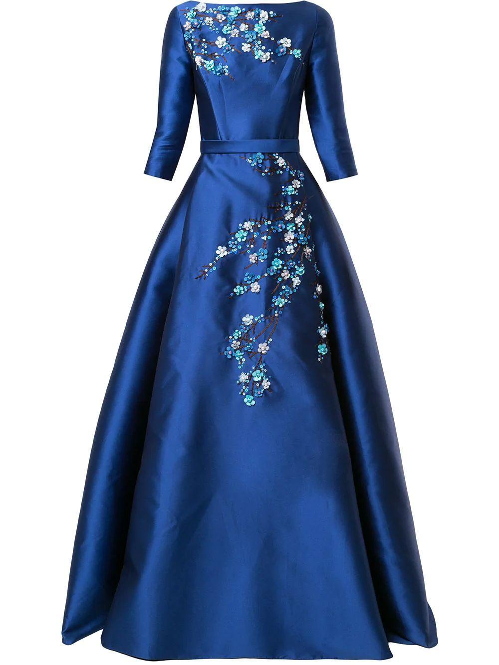 Floral-Applique Gown