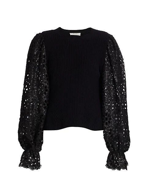 Shelby Sequin Sleeve Sweater
