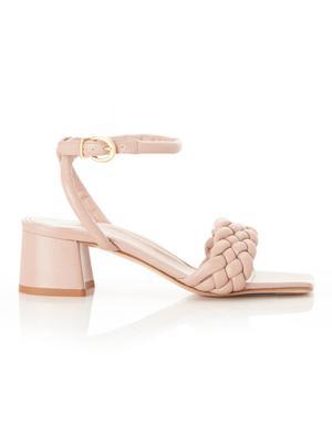 Iris Braided Block Heel Sandal