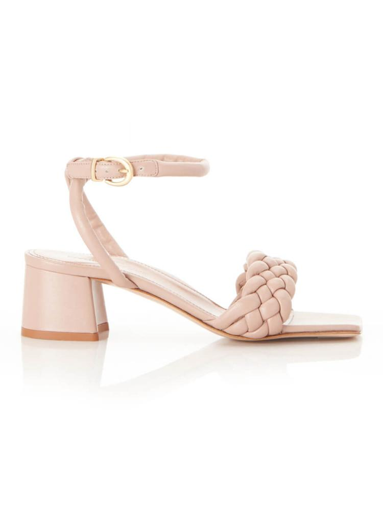 Iris Braided Block Heel Sandal