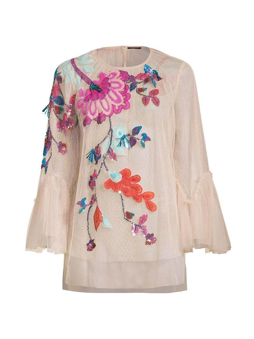 Carrie Floral Embroidered Top