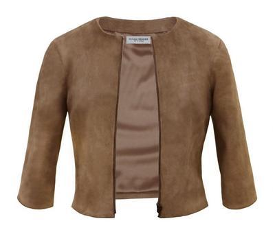 Stretch Suede Cardigan Jacket
