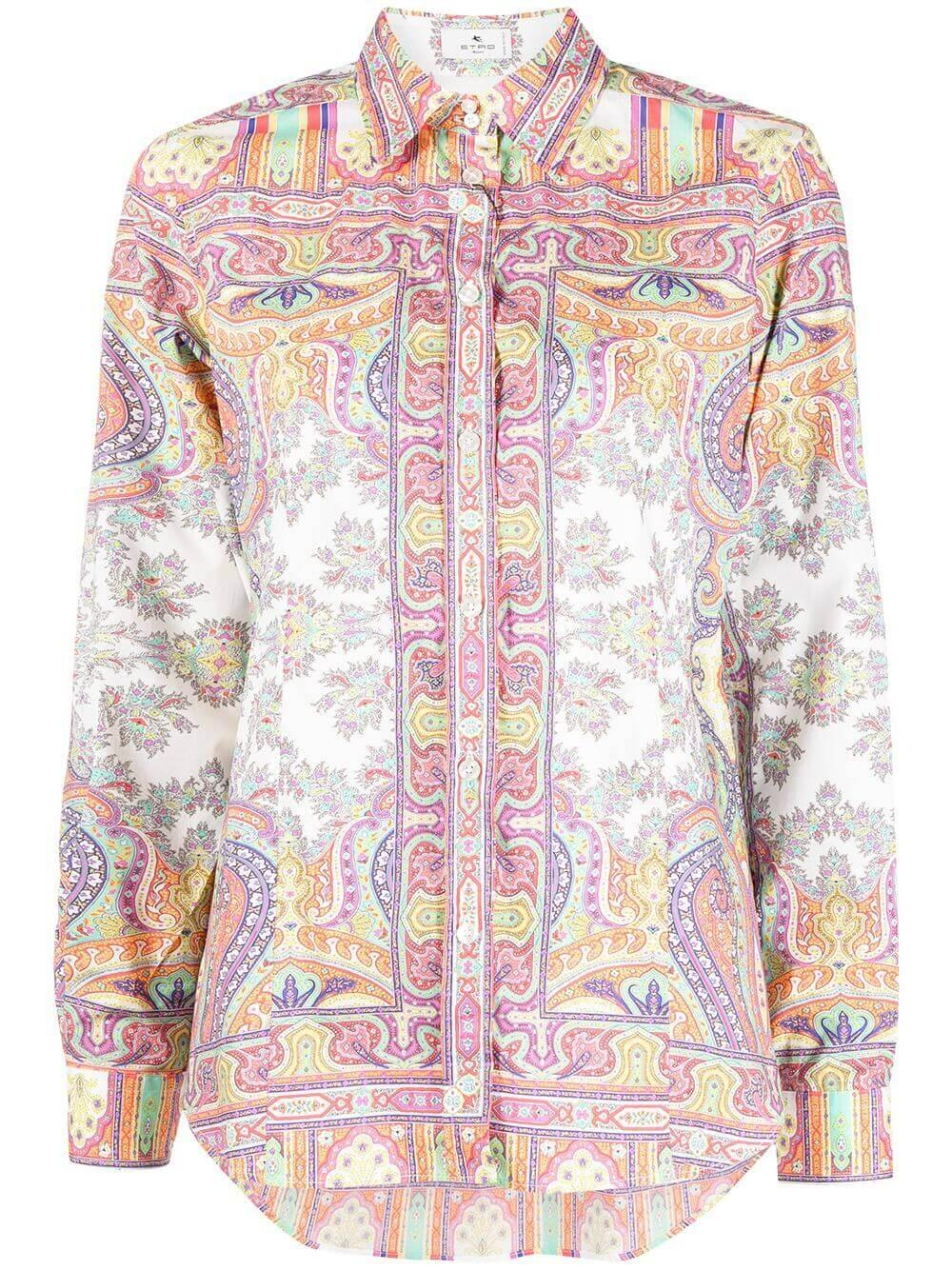 Paisley Print Shirt Item # 211D143014391