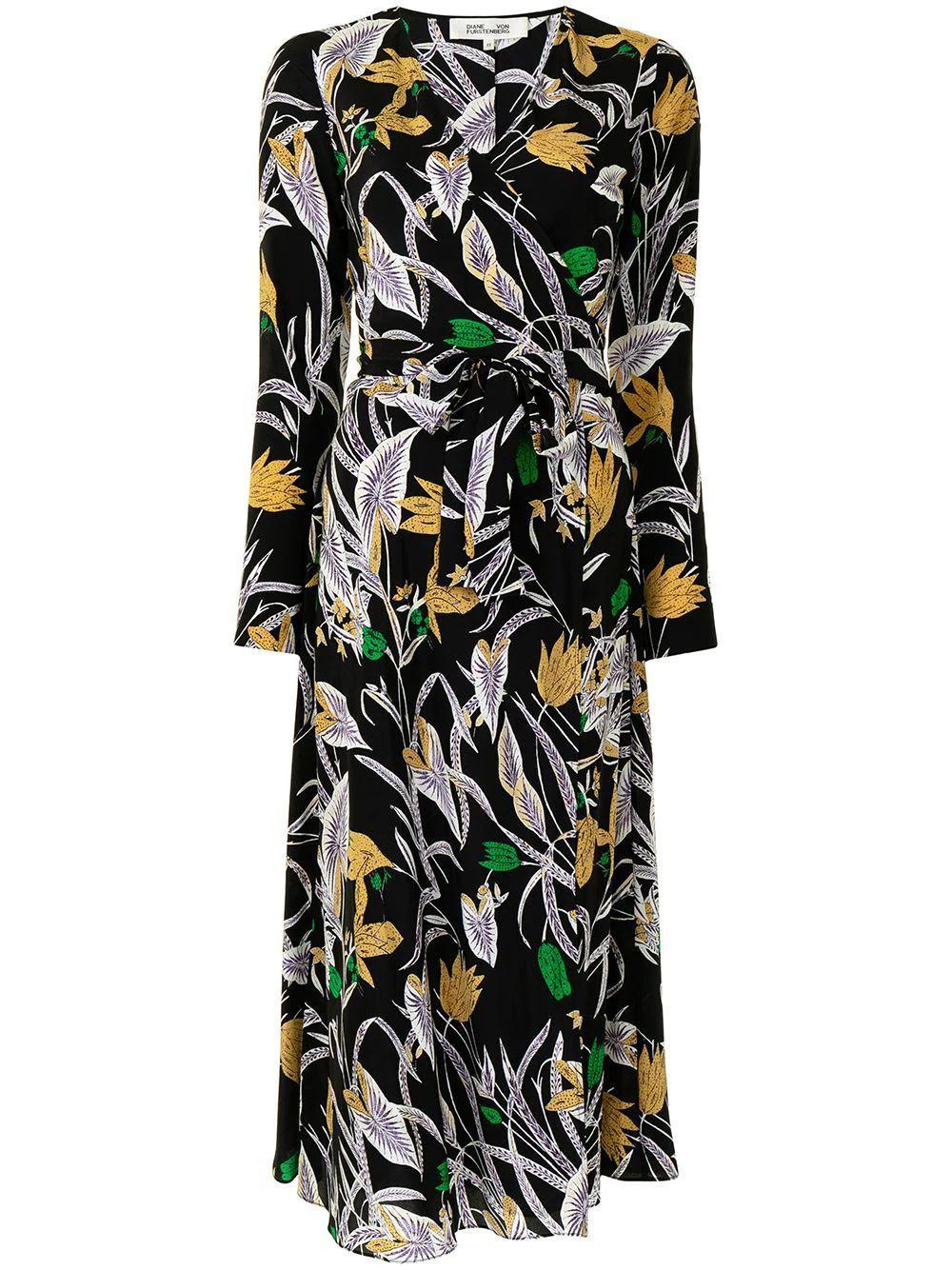 Tilly Botanical Wrap Dress