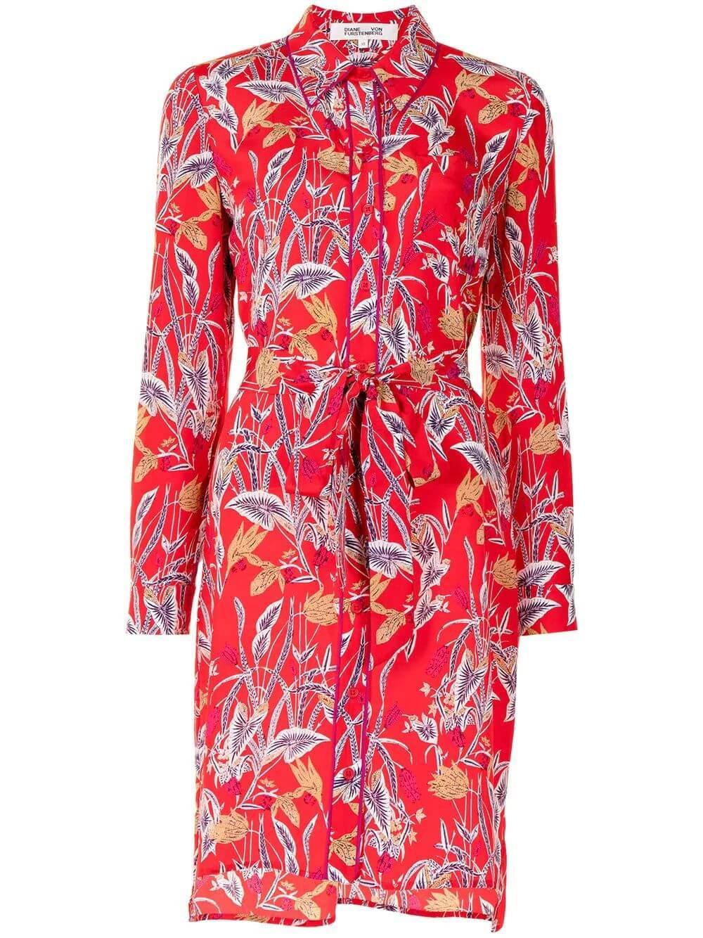 Prita Botanical Shirt Dress