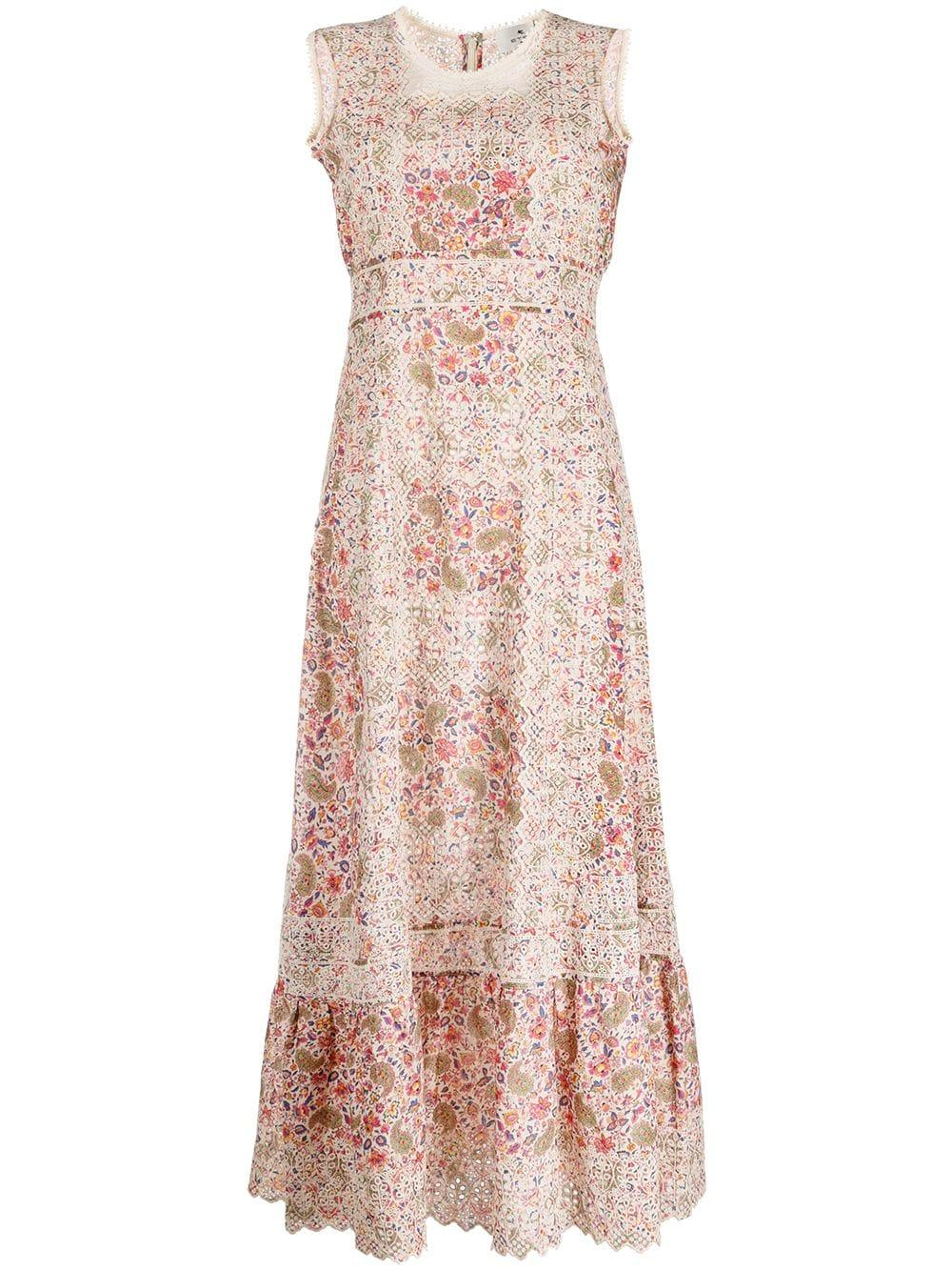 Printed Maxi With Lace Trim