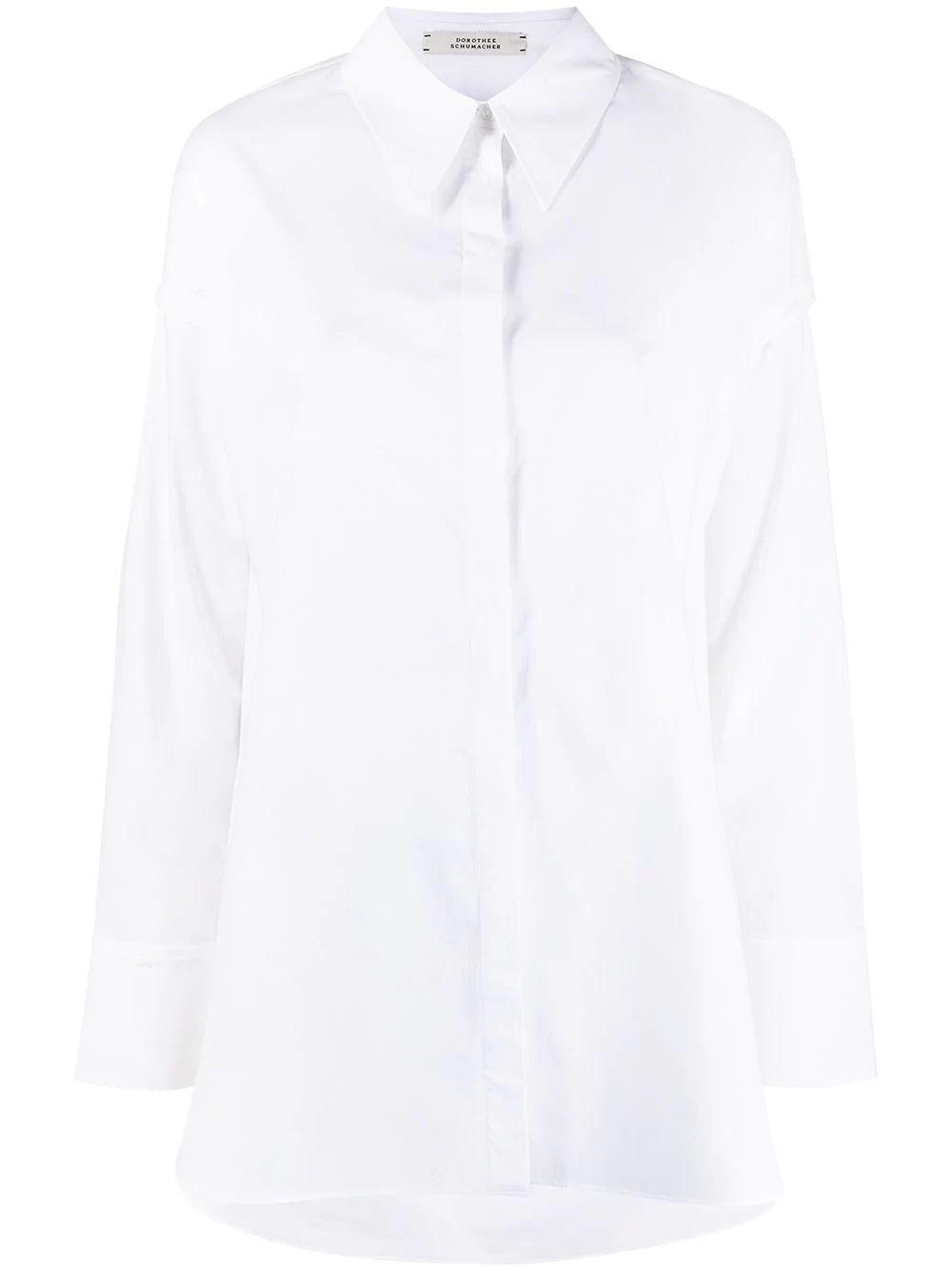 Poplin Power Shirt With Cut-Outs