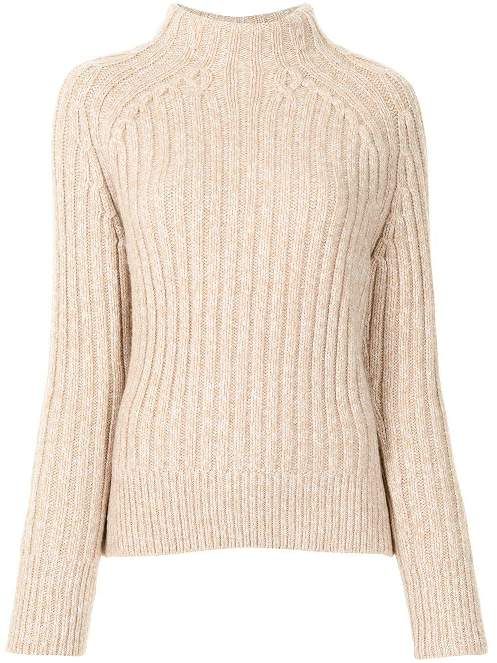Rib Knit Mock Neck Sweater