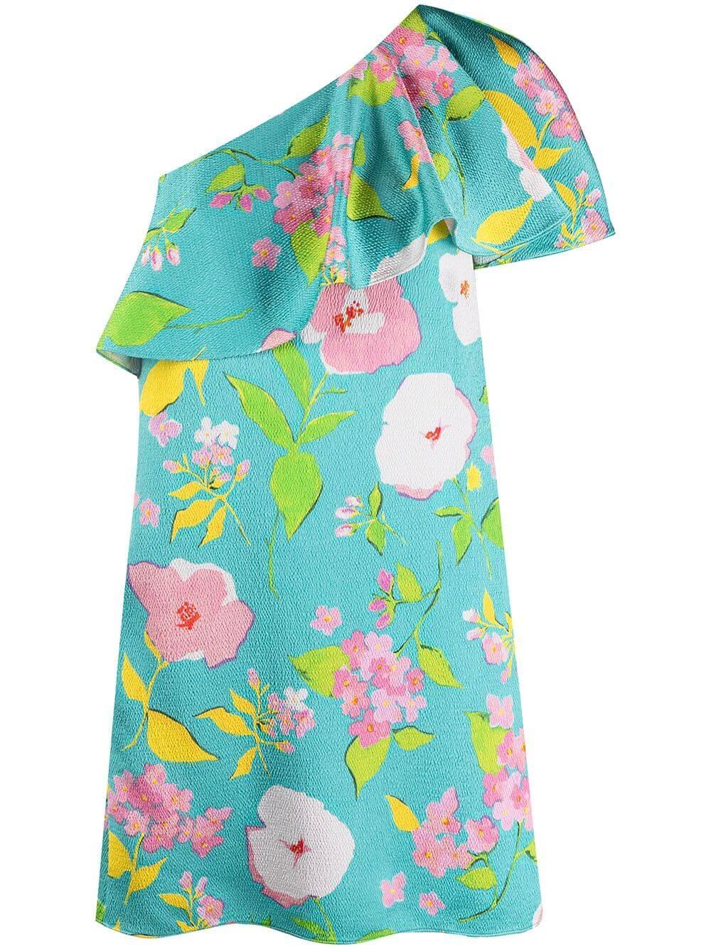 One Shoulder Floral Dress Item # 652178Y5C62