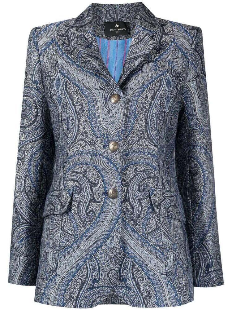 Paisley Jacquard Jacket Item # 211D140331490
