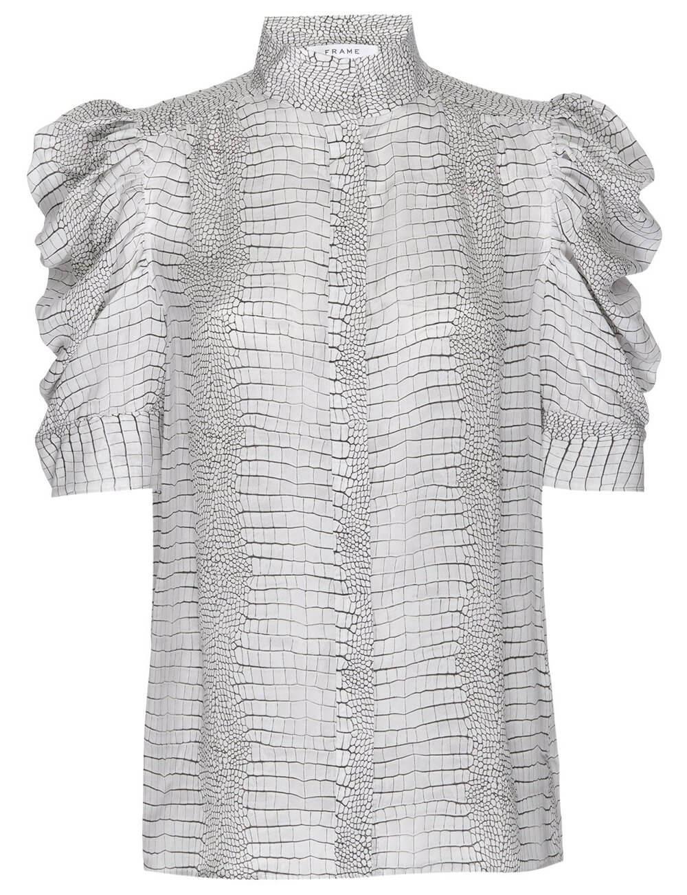 Gillian Puff Sleeve Printed Top