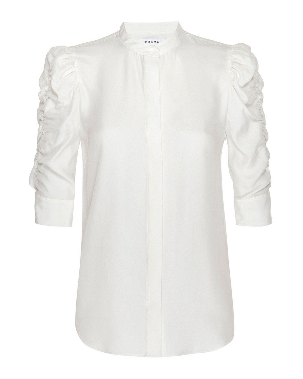 Gillian Poplin Puff Sleeve Top Item # LWSH2121