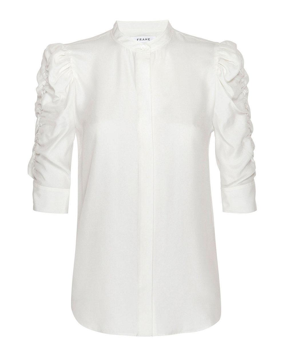 Gillian Poplin Puff Sleeve Top