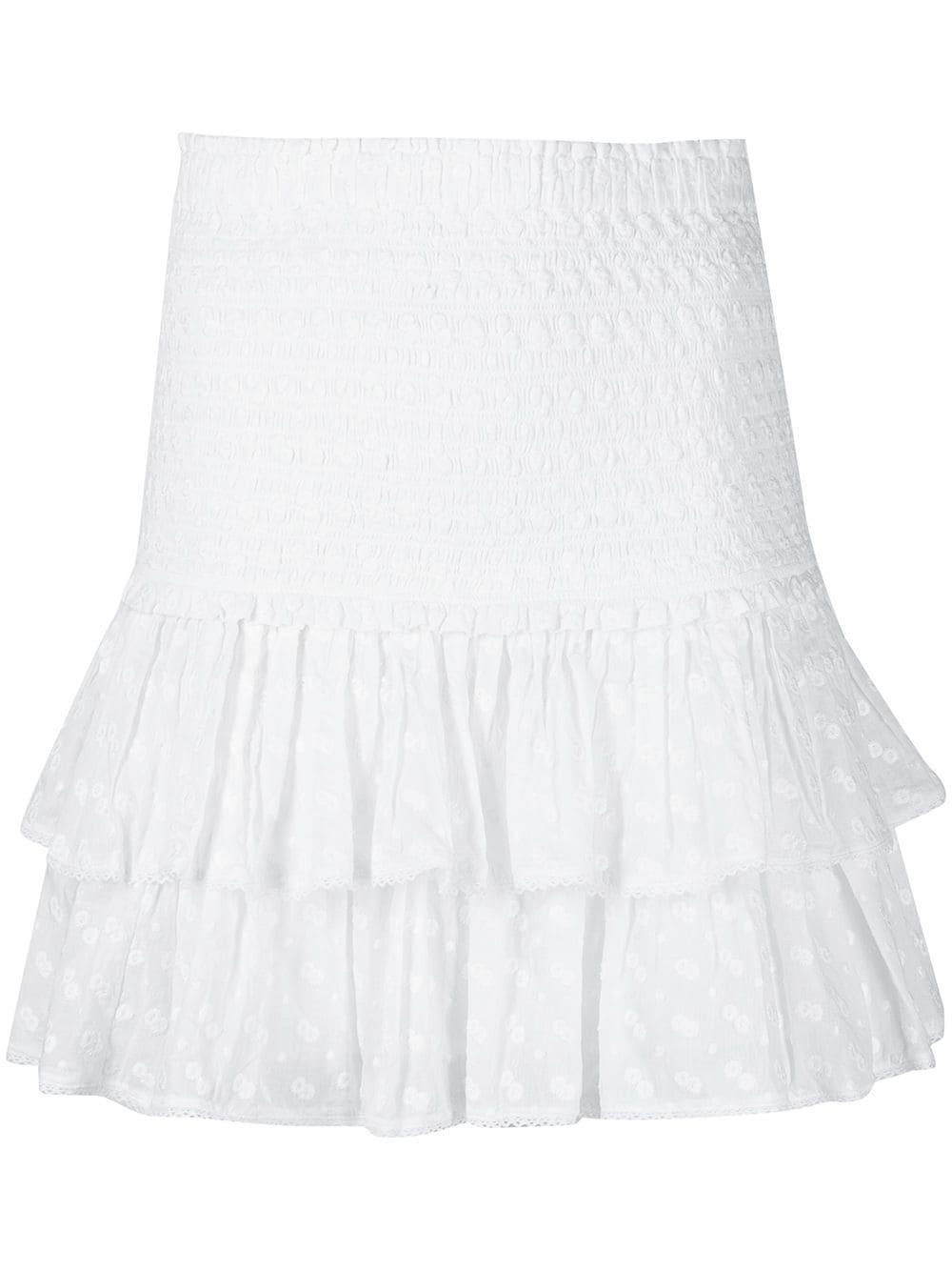 Tinaomi Embroidered Cotton Skirt
