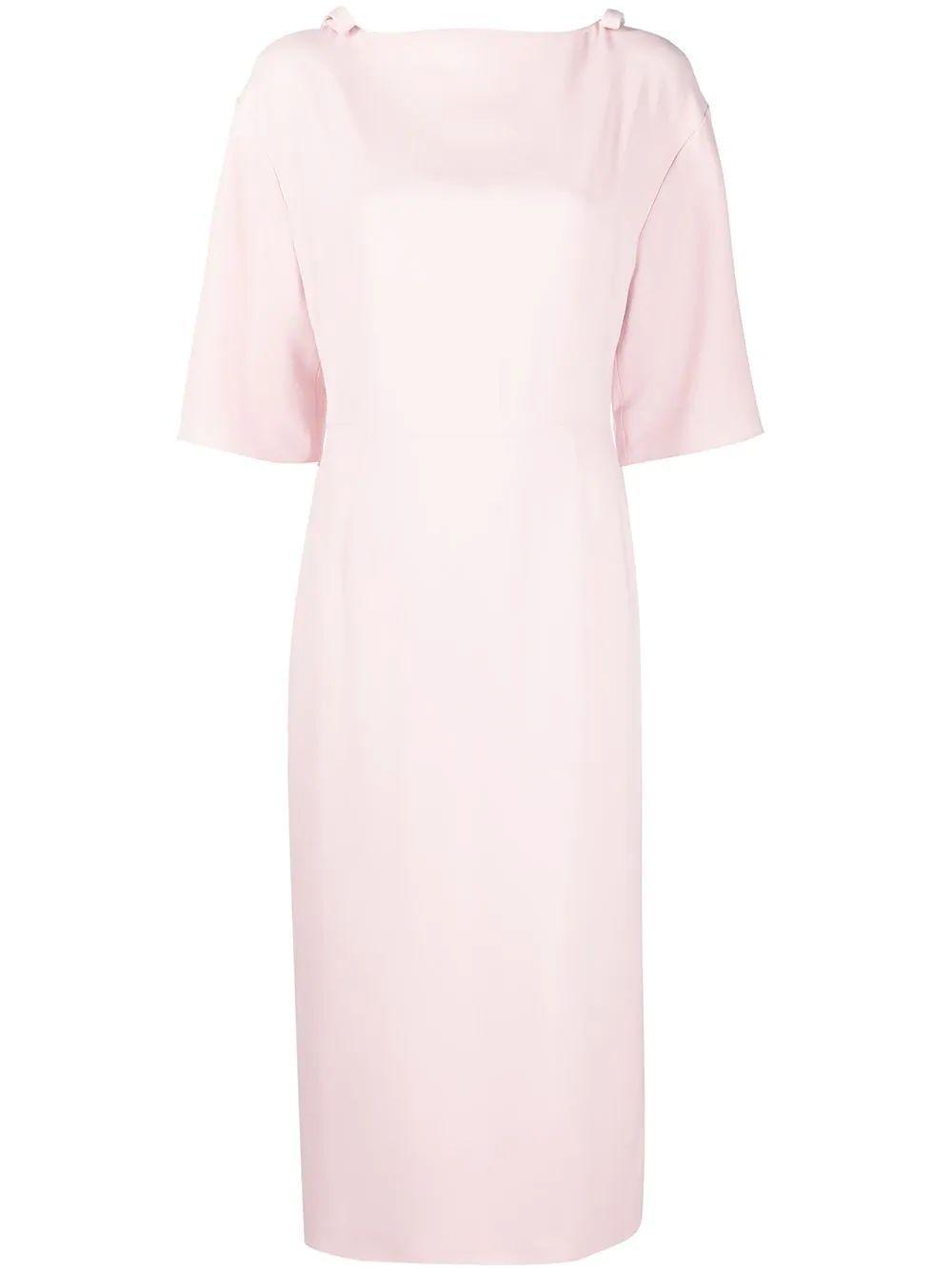Bow Embellished Midi Dress