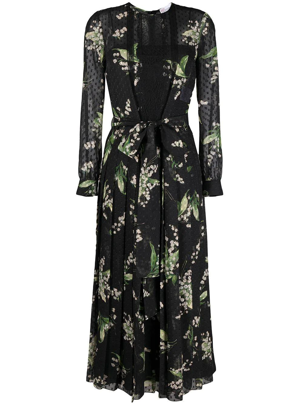 Floral Pleated Midi Dress