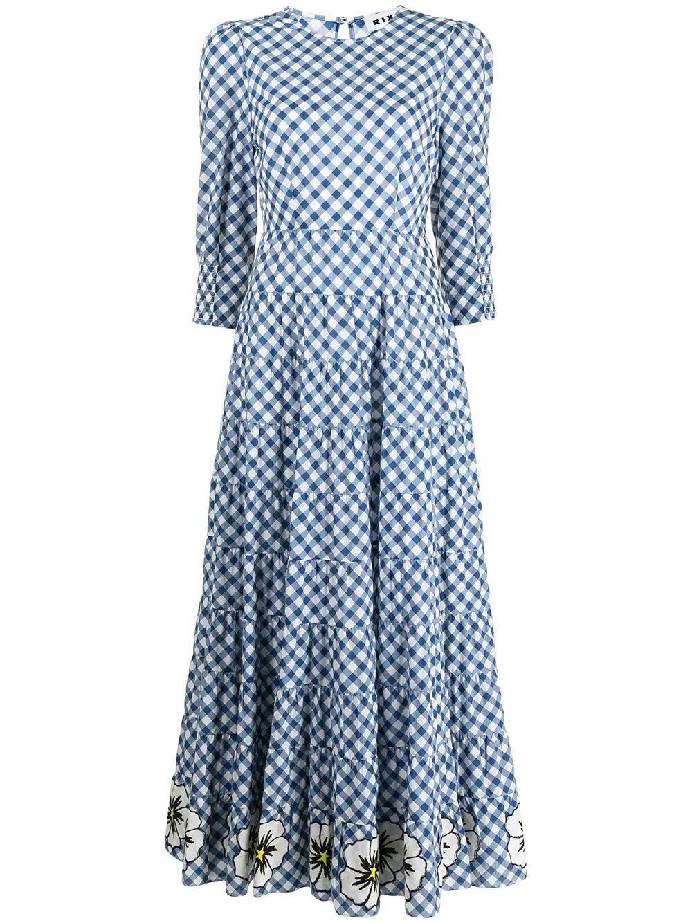 Kristen Gingham Maxi Dress