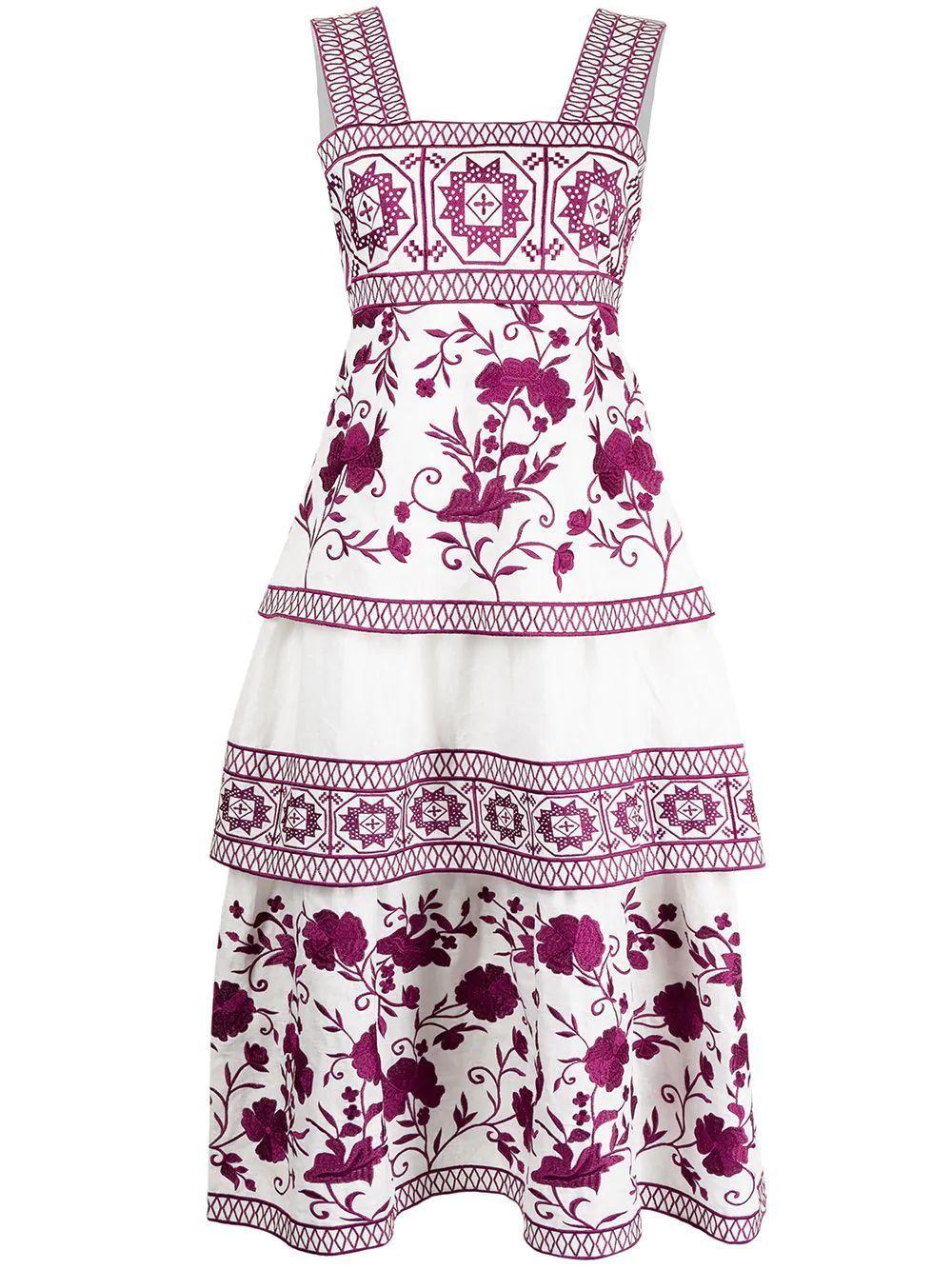 Verity Embroidered Midi Dress