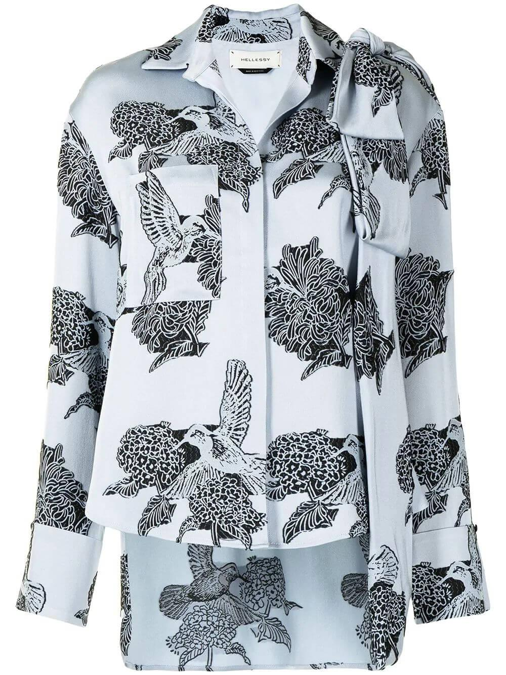 Legacy Button Down Printed Blouse Item # HA20T277-71