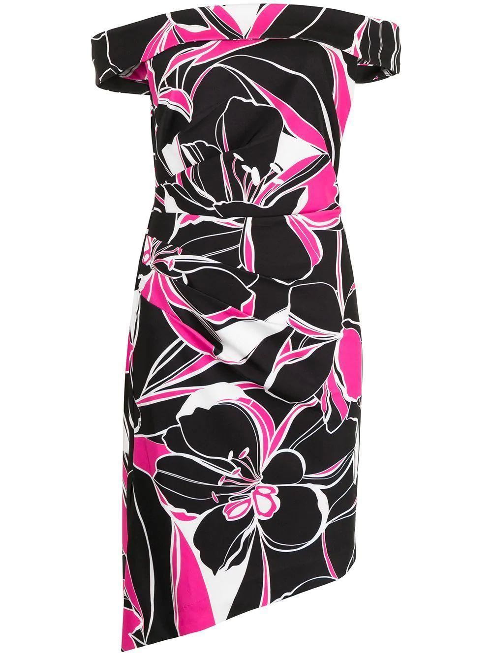 Ally Stencil Floral Dress