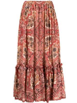Paisley Tiered Skirt