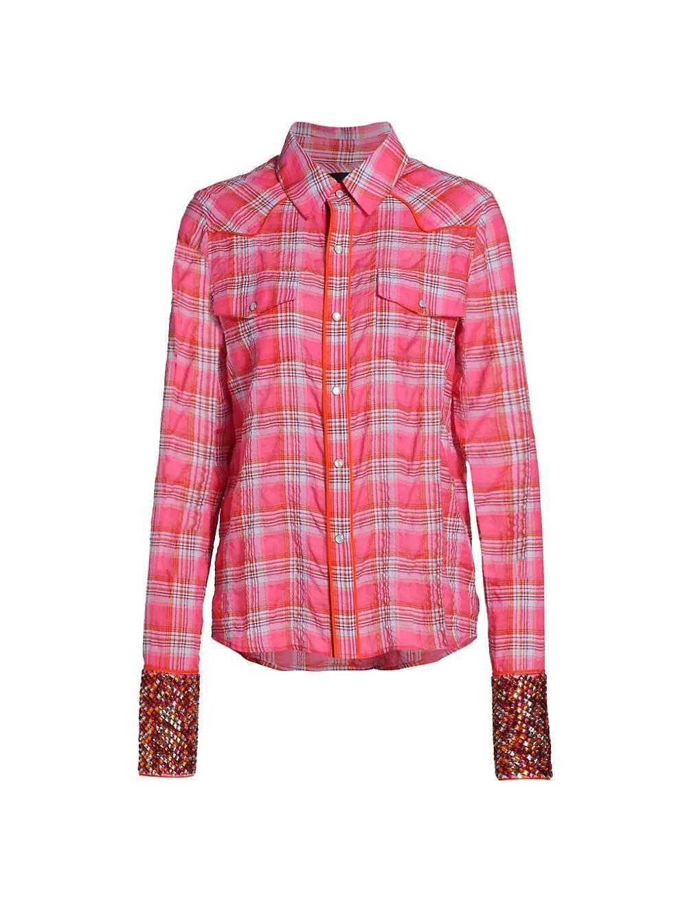 Stone Embellished Cowboy Shirt Item # SP21-898