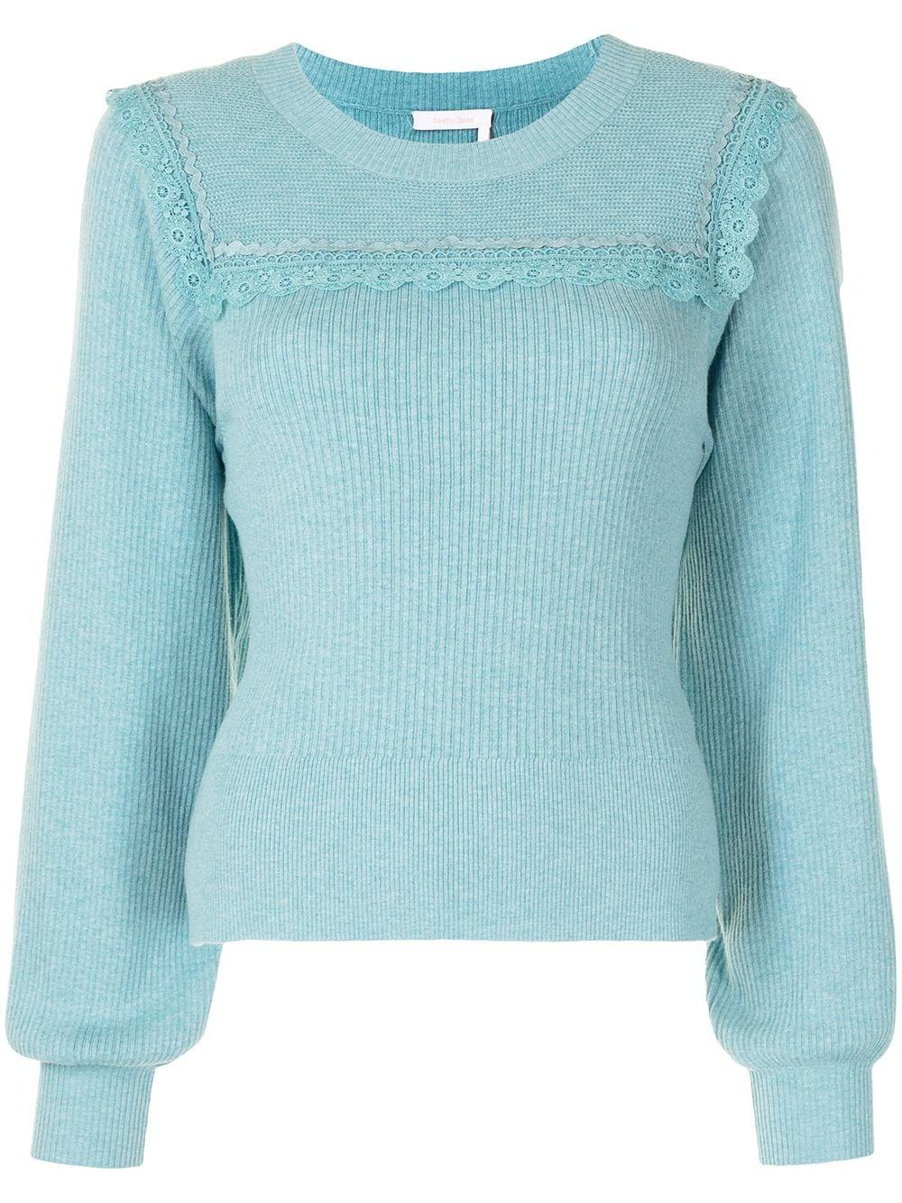 Lace Trimmed Sweater Item # CHS21SMP11580