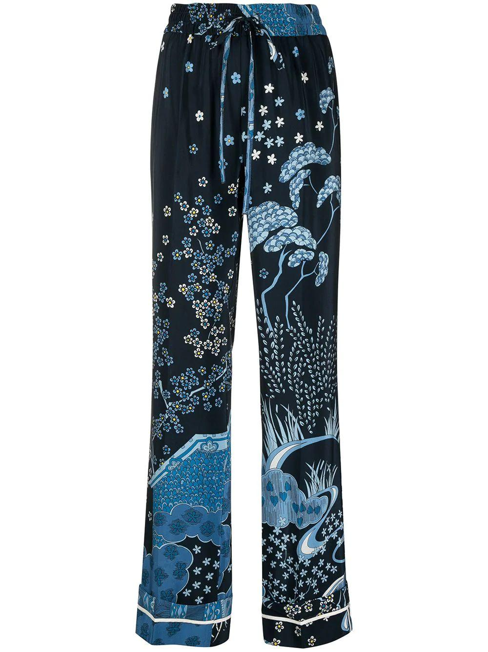 Floral Printed Straight Leg Pant