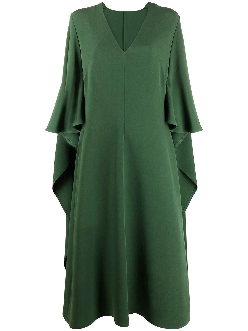 Draped Midi Dress Item # VB3VAUP51MM