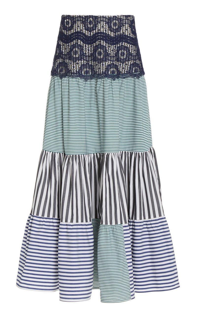 Flager Mixed Print Skirt Item # FLAGER-SKIRT