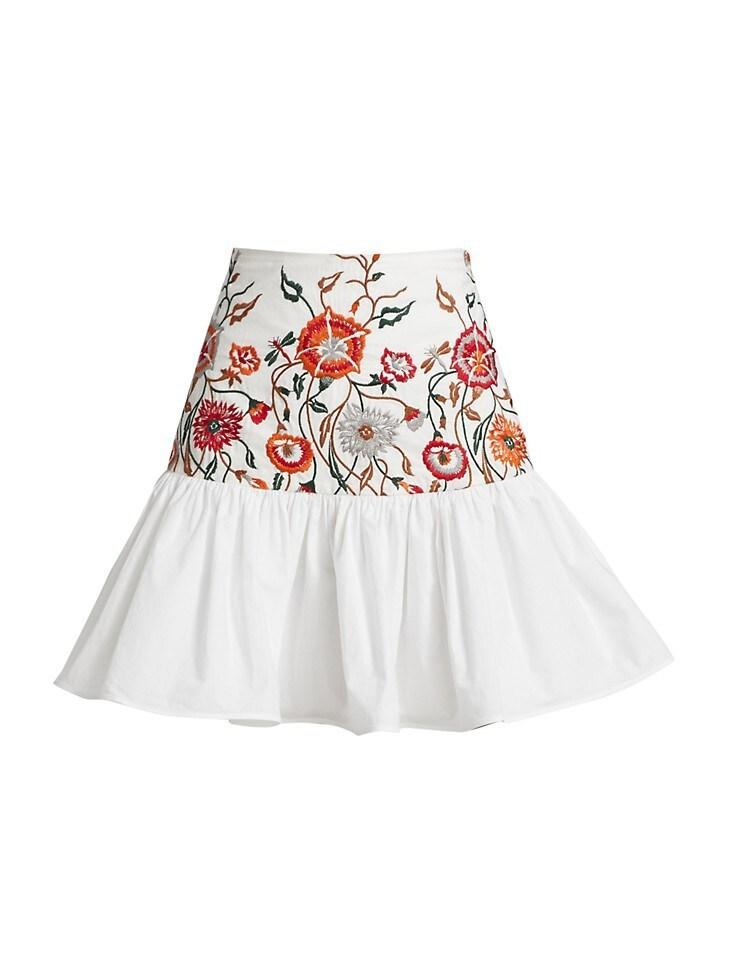 Buccan Embroidered Skirt