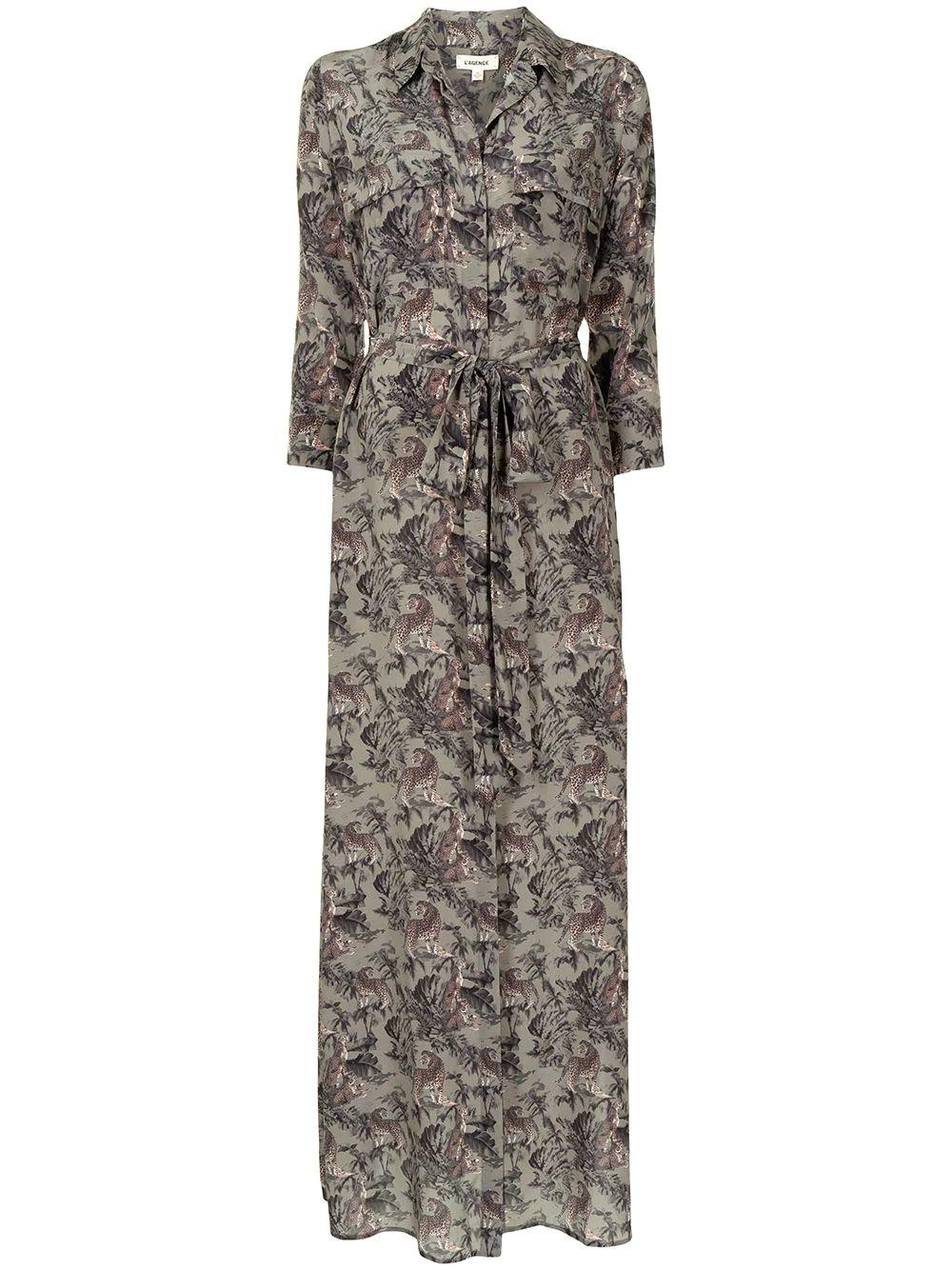 Cameron Jungle Print Shirt Dress