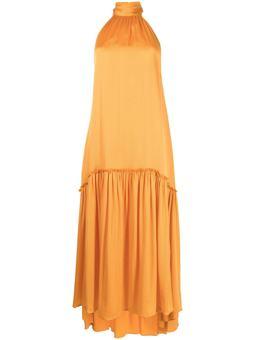 Anessa Hammered Silk Maxi Dress