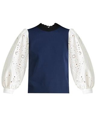 Roy Mixed Media Sweater