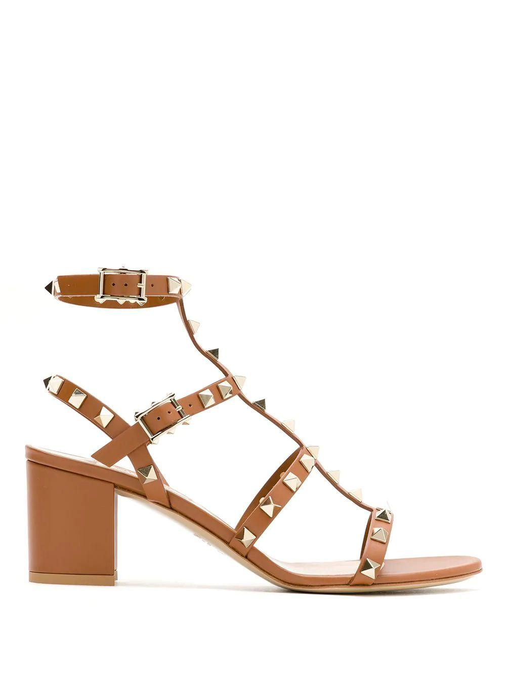 Rockstud Block Heel Sandals