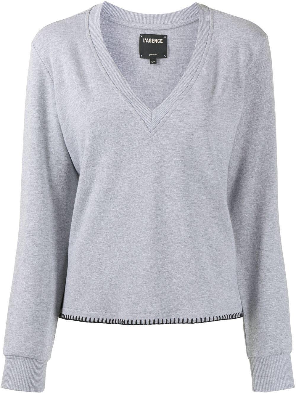 Helena V- Neck Sweatshirt Item # 8618HGFE