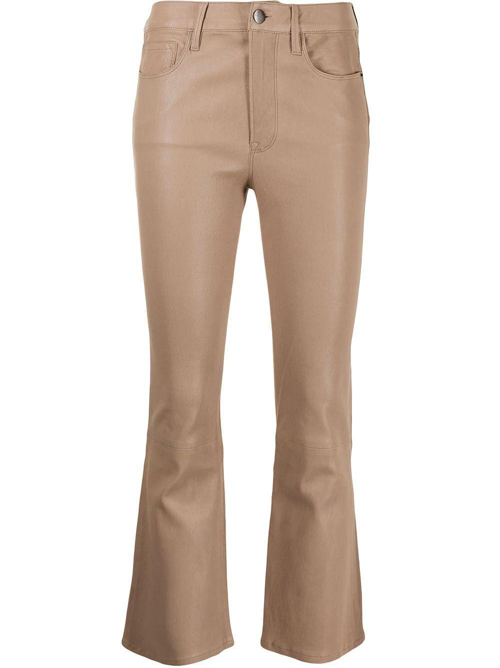 Le Crop Mini Boot Cut Leather Pant Item # LWLT0495