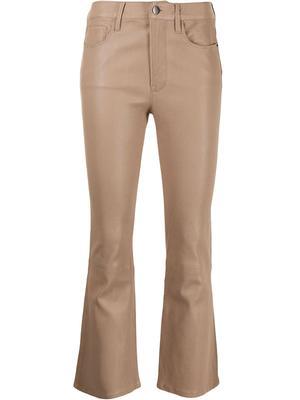 Le Crop Mini Boot Cut Leather Pant