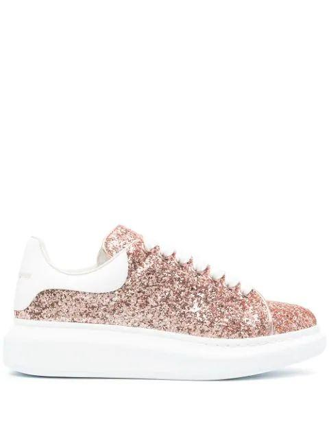 Glitter Lace Up Sneakers Item # 558944W4PZ1