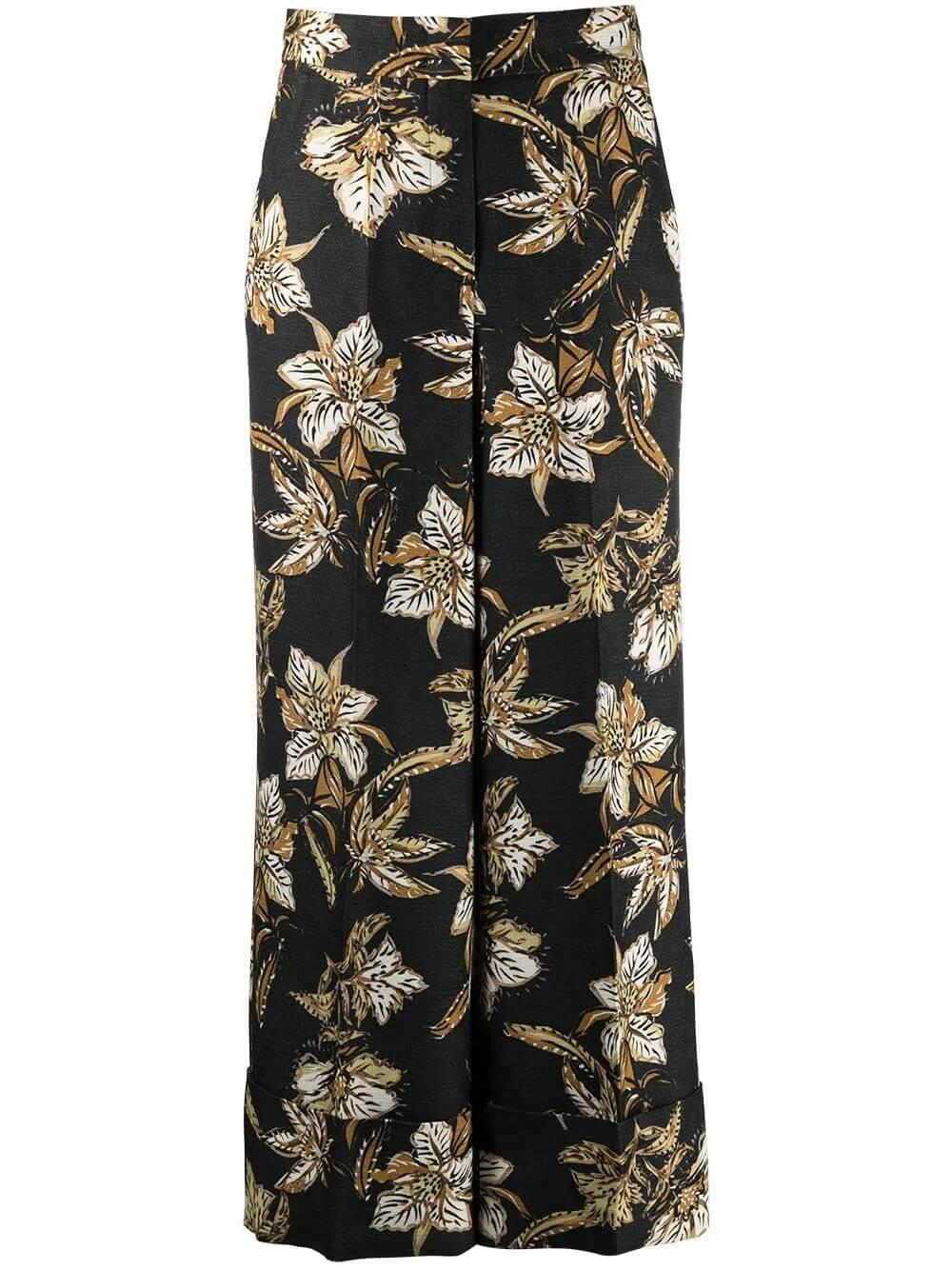 Structured Floral Pant