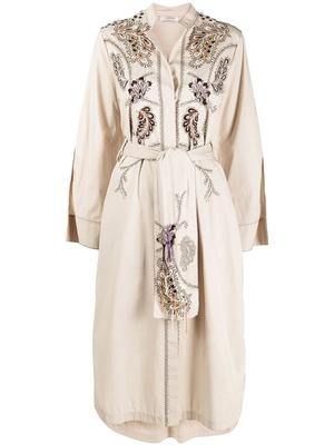 Embroidered Power Dress