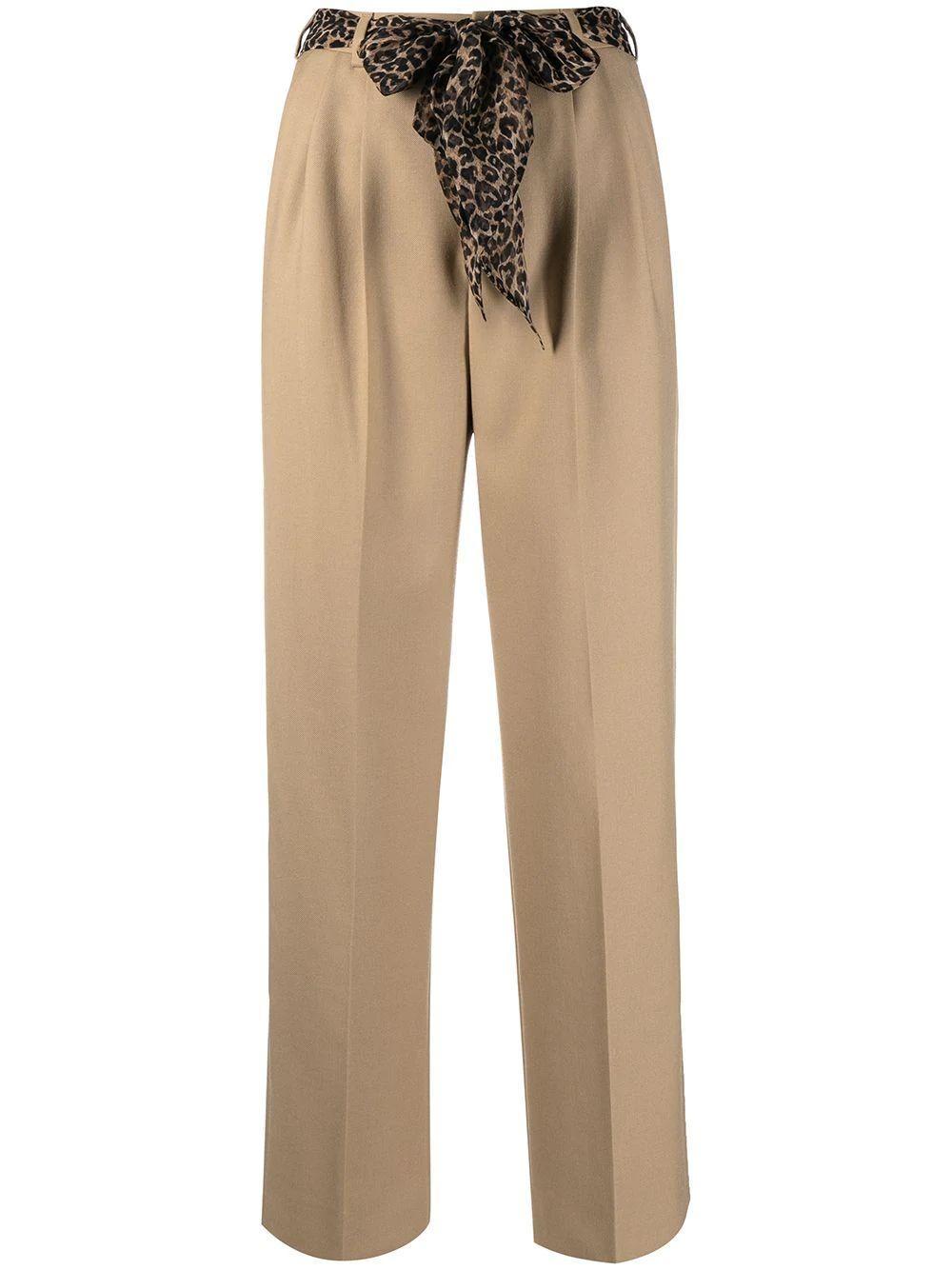 Straight Leg Pant With Silk Belt Item # 648142Y7B73