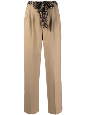 Straight Leg Pant With Silk Belt