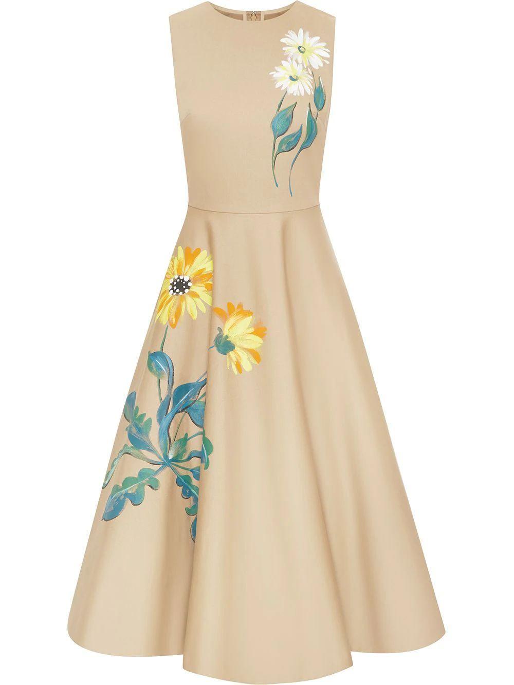 Floral Print Poplin Dress Item # 21RN259CNT