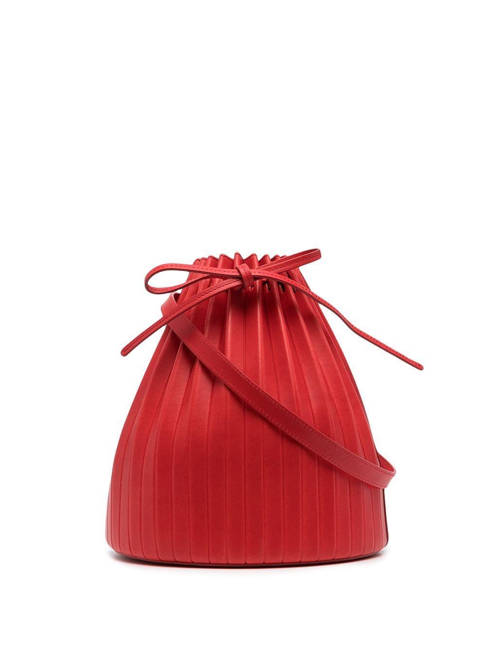 Pleated Bucket Bag