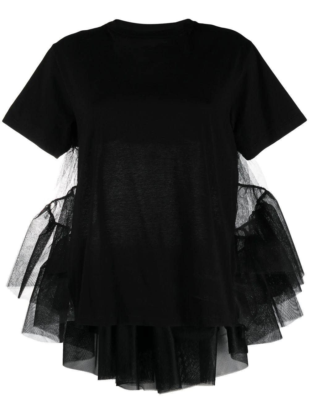 T-Shirt With Tulle Detail