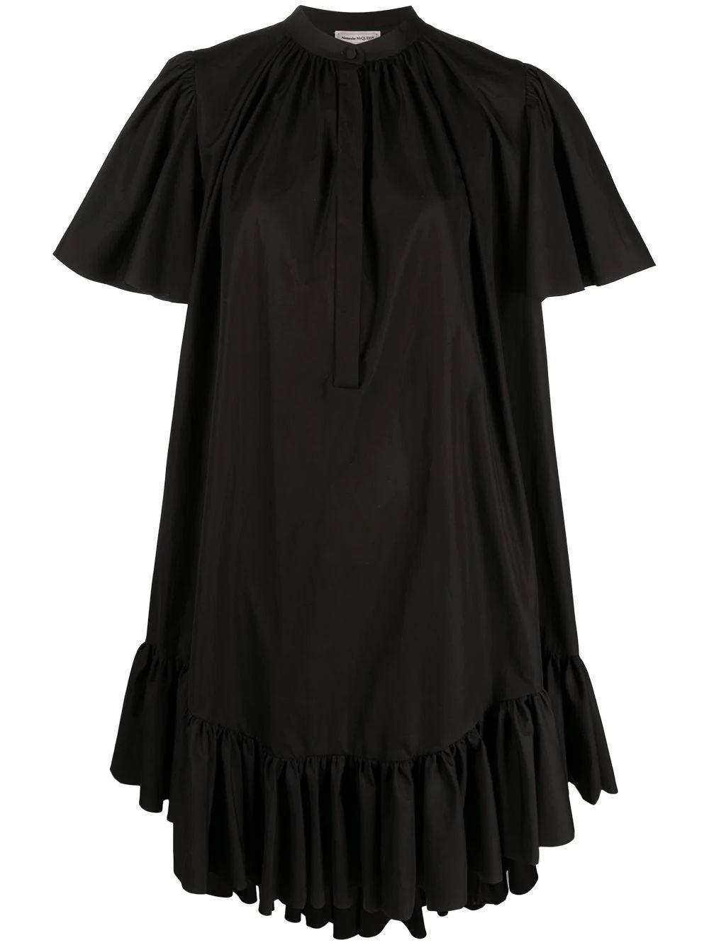Ruffle Trim Trapeze Dress Item # 657101QAAAD