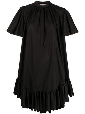 Ruffle Trim Trapeze Dress
