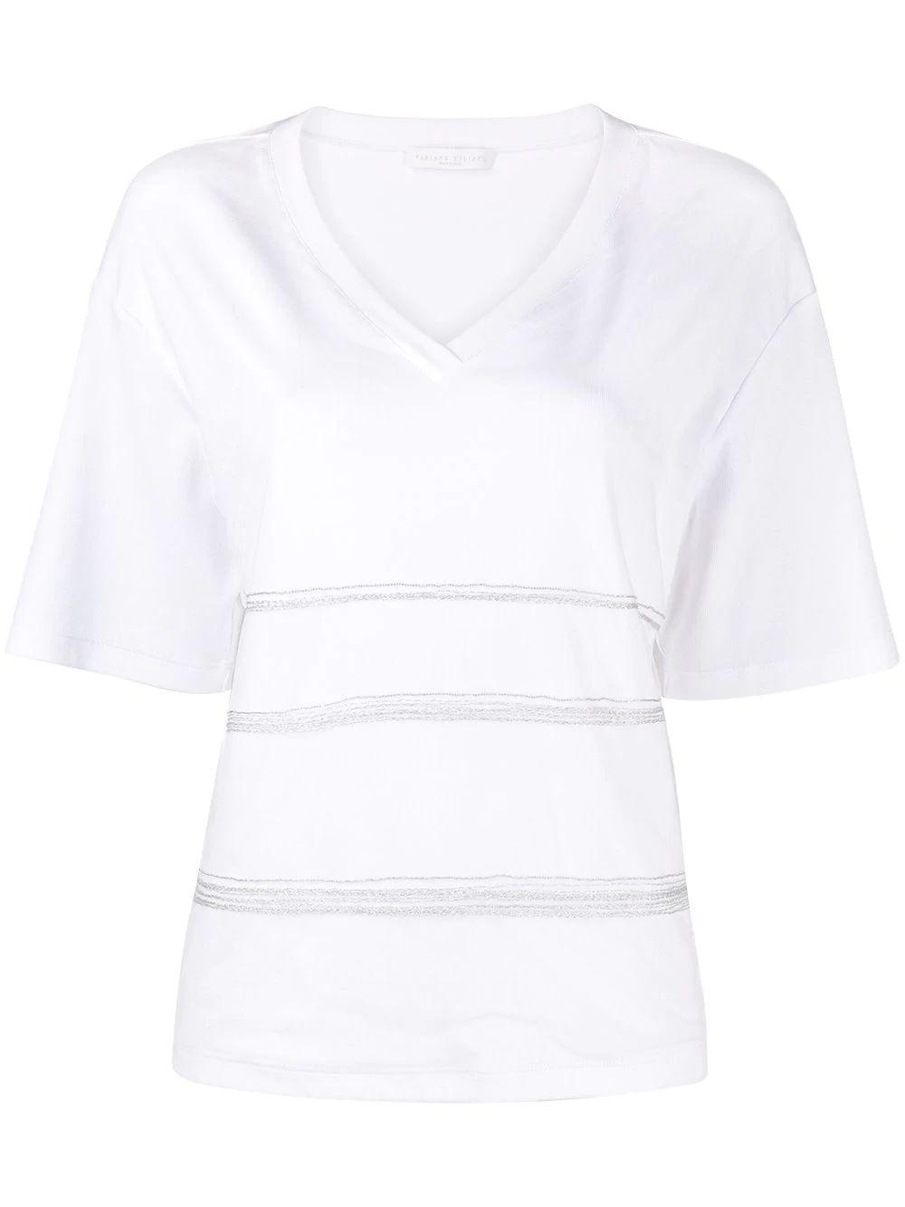 Beaded Detail T- Shirt Item # JED271W135