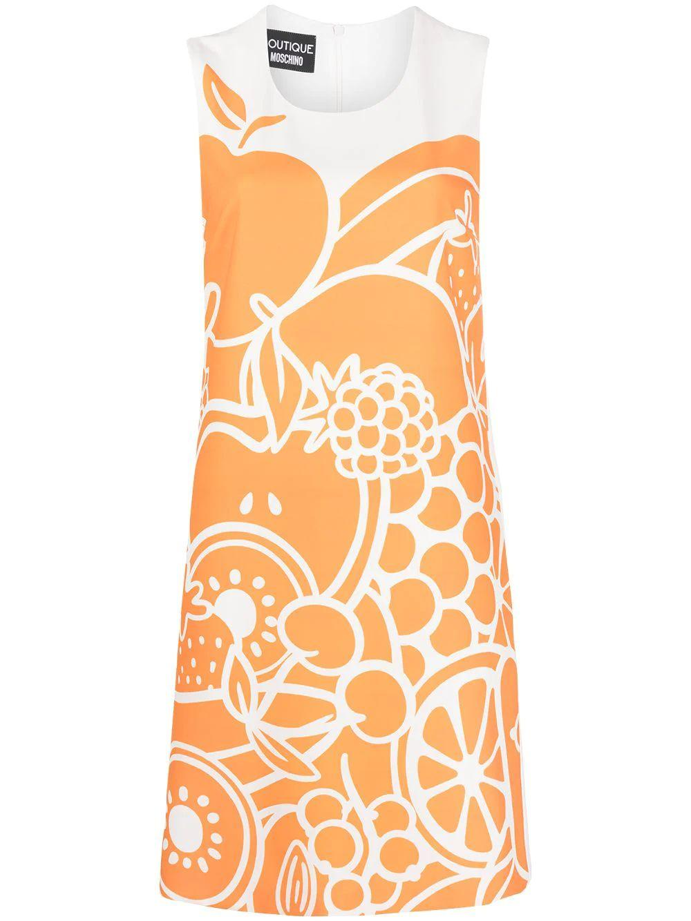 Citrus Print Shift Dress